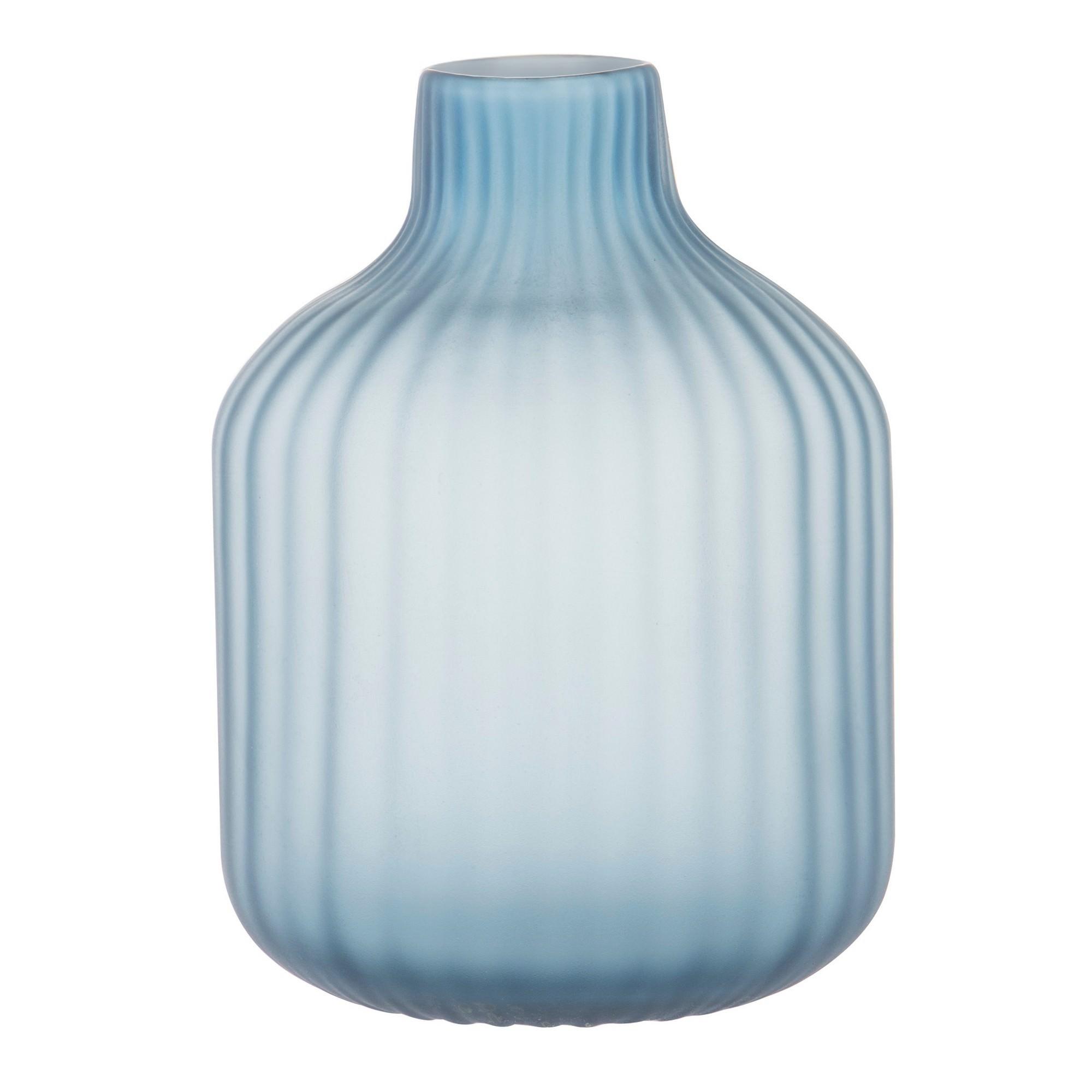 Neve Ribbed Glass Vase