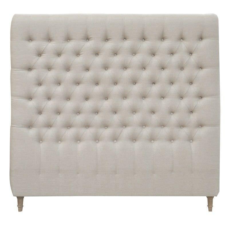 Chesterfield Tufted Linen Bed Headboard, Queen, Oatmeal