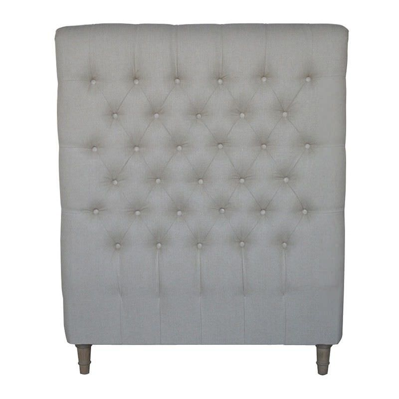 Chesterfield Tufted Linen Bed Headboard, Single, Oatmeal