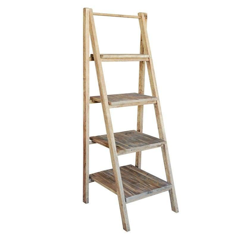 Vanda Recycled Pine Timber Folding Ladder Display Shelf