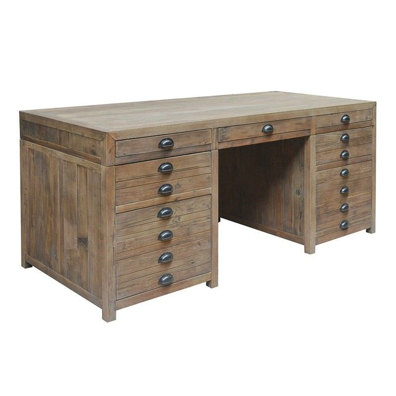 Printmakers Recycled Pine Timber Exclusive Desk, 180cm