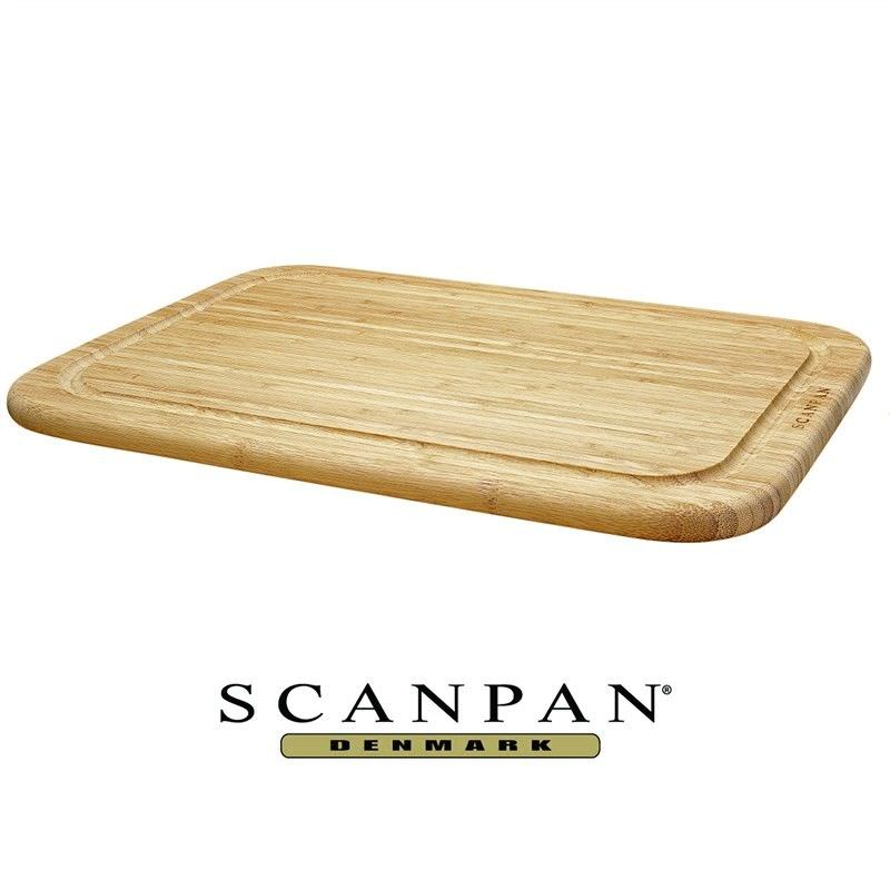 Scanpan Bamboo 42x29cm Reversible Cutting Board with Juice Groove