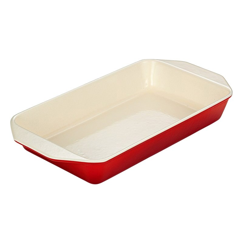 Chasseur Cast Iron 28cm Rectangular Serving Dish - Inferno Red
