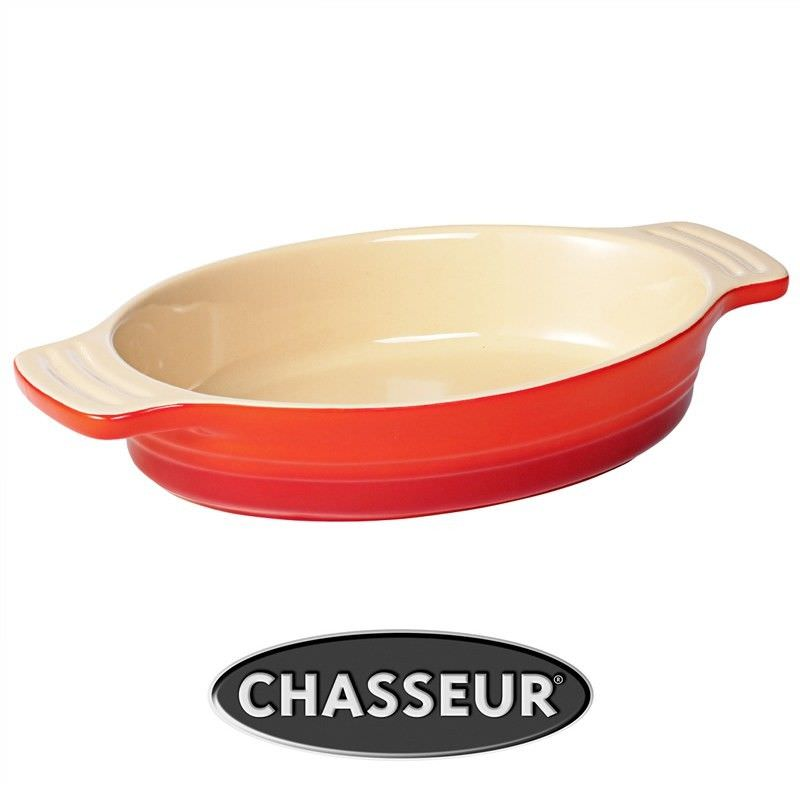 Chasseur La Cuisson Medium Oval Baking Dish - Red