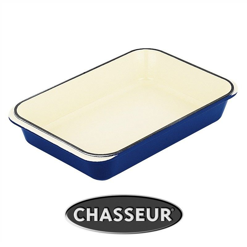 Chasseur Cast Iron 33x21cm Rectangular Roaster - French Blue