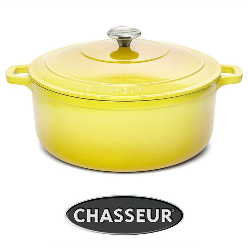 Chasseur Cast Iron 26cm Round French Oven - Buttercup