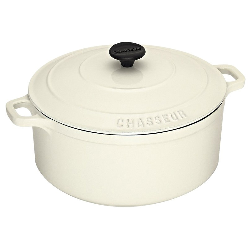 Chasseur Cast Iron 28cm Round French Oven - Brilliant White