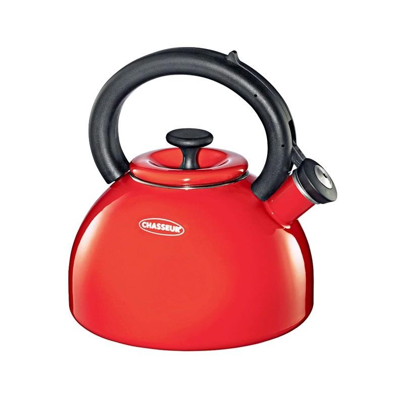 Chasseur Domus 2.5 Litre Enamelled Whistling Kettle - Red