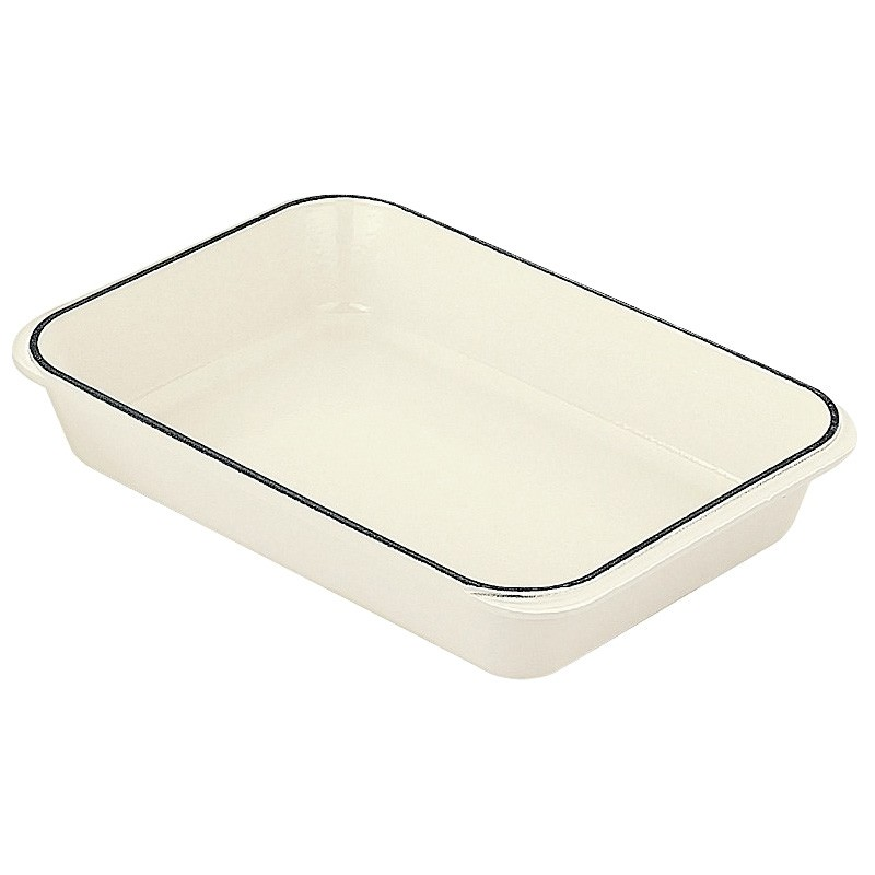 Chasseur Cast Iron 40x26cm Rectangular Roaster - Brilliant White