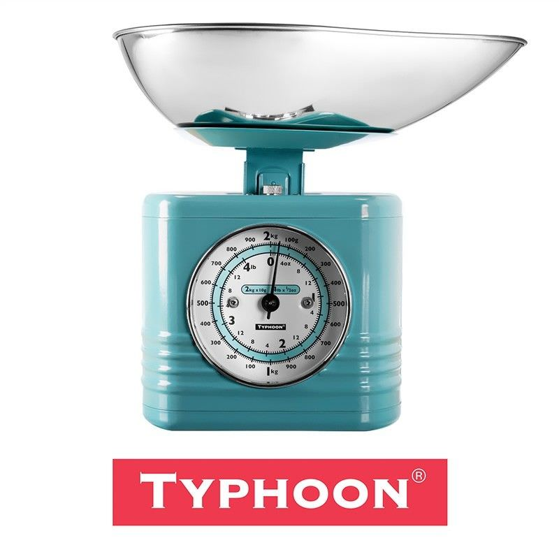 Typhoon Vintage Kitchen Scales - Blue