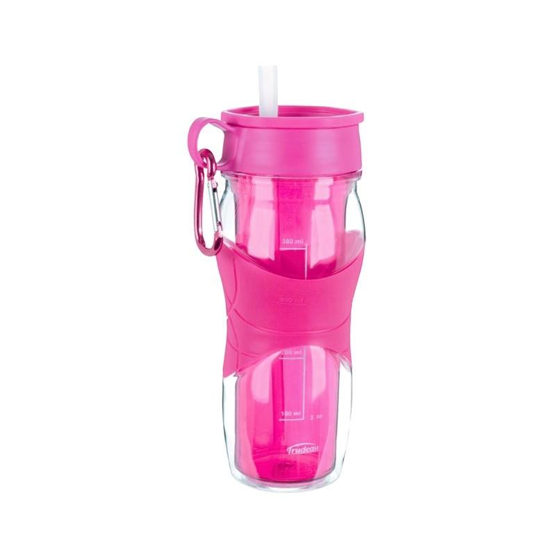 Trudeau 470ml Twin-wall Cool Off Hydration Bottle - Magenta