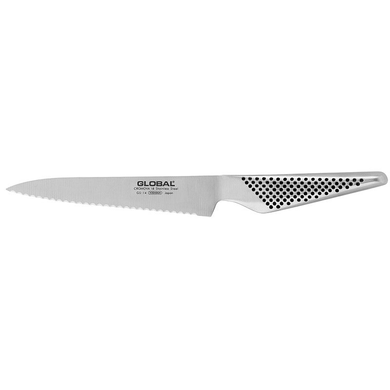 Global GS Series 15cm Scalloped Utility Knife (GS-14)
