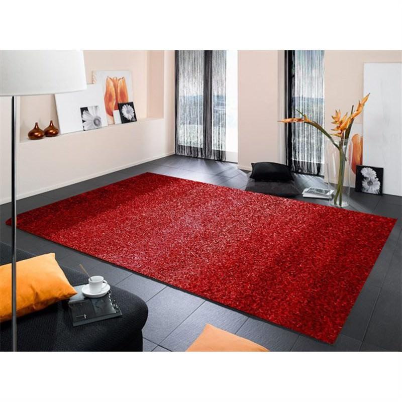 Designer Shaggy Rug - Stripes RED 160 X 230CM