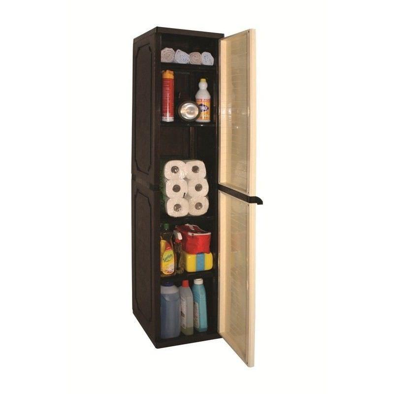 Slim Storage Cabinet  in Beige