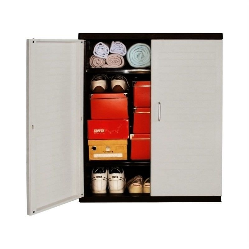 Low Storage Cabinet in Grey