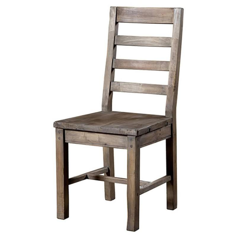 Settler Reclaimed Timber Dining Chair, Timber Seat