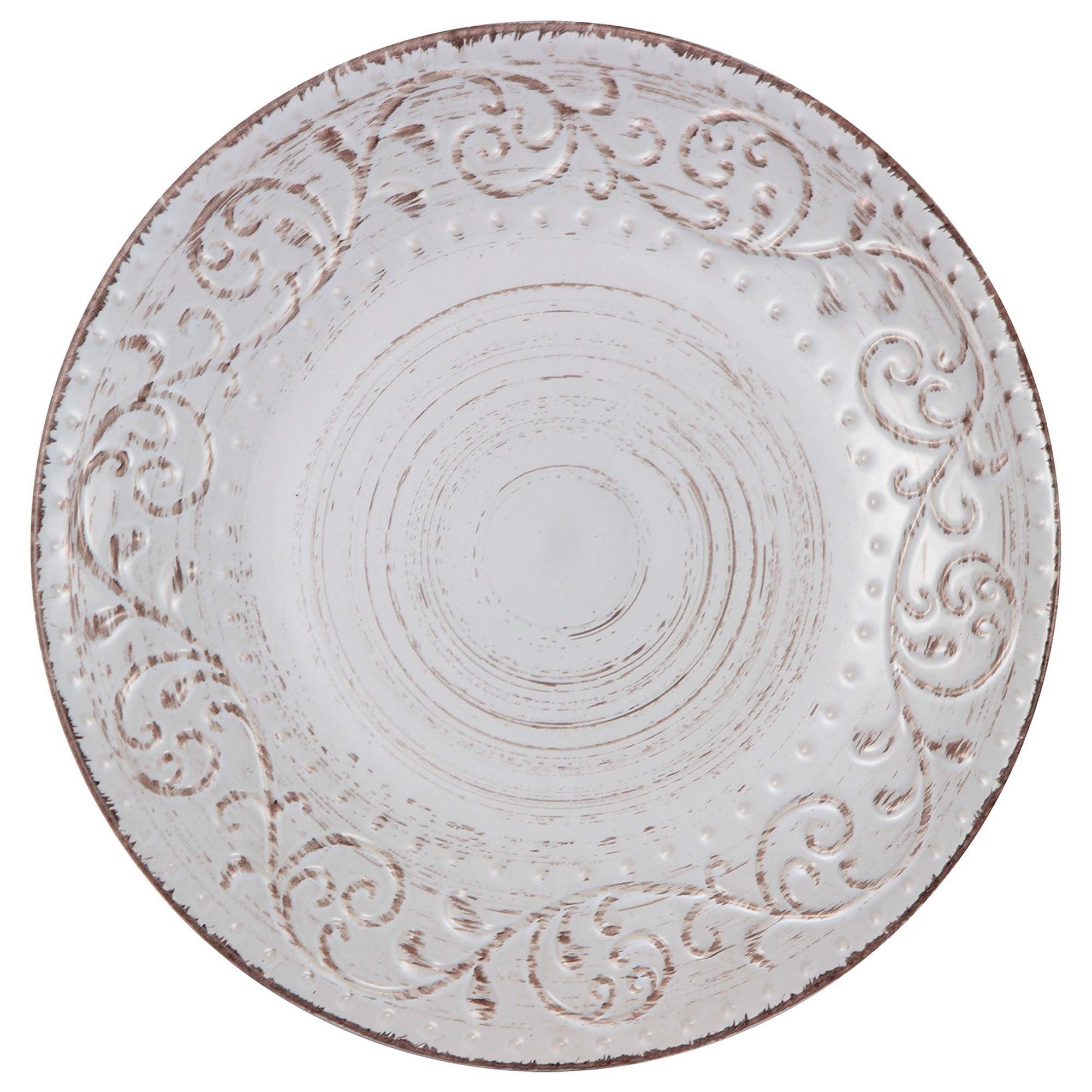 Dane Hill Stoneware Dinner Plate, Cream