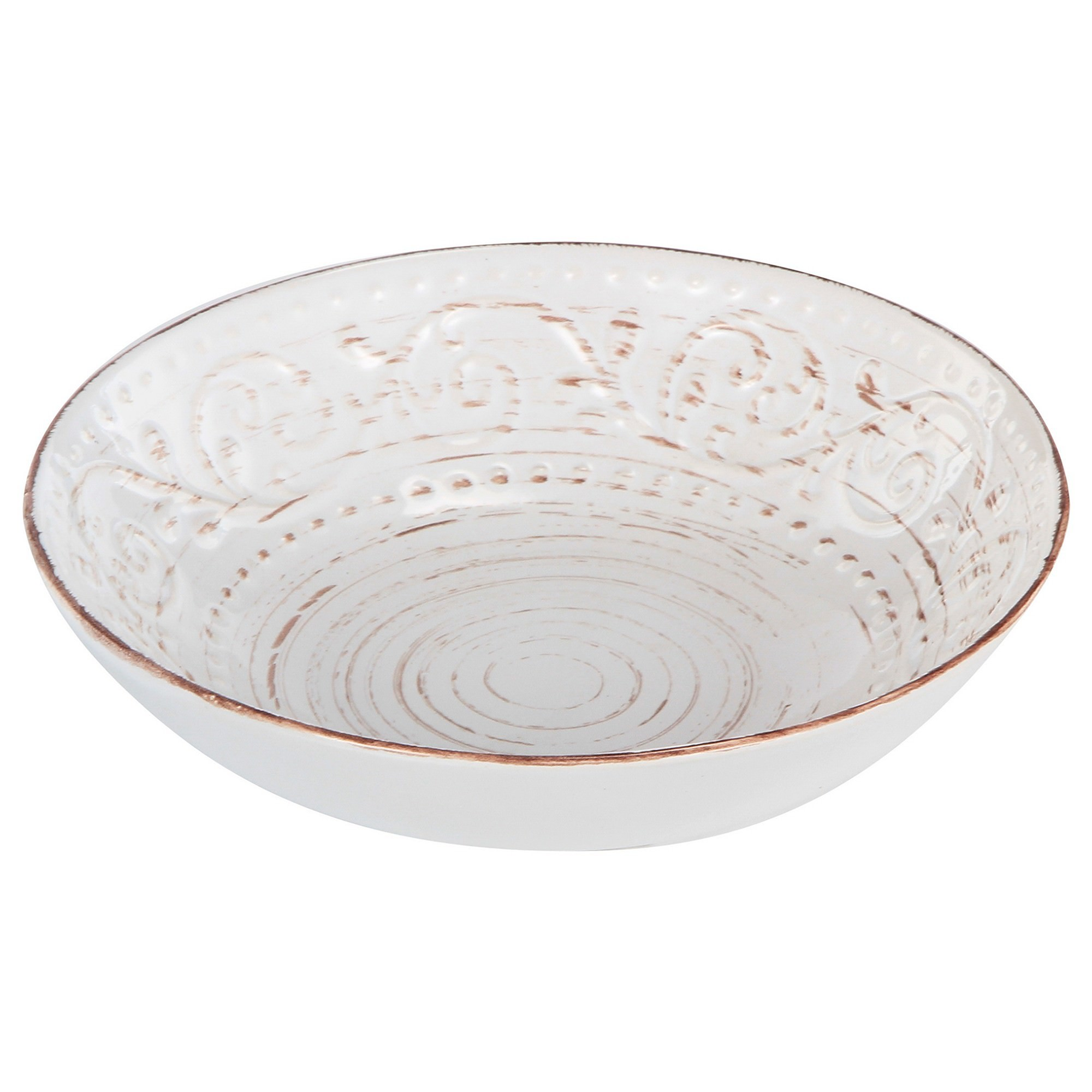 Dane Hill Stoneware Salad Bowl, Cream