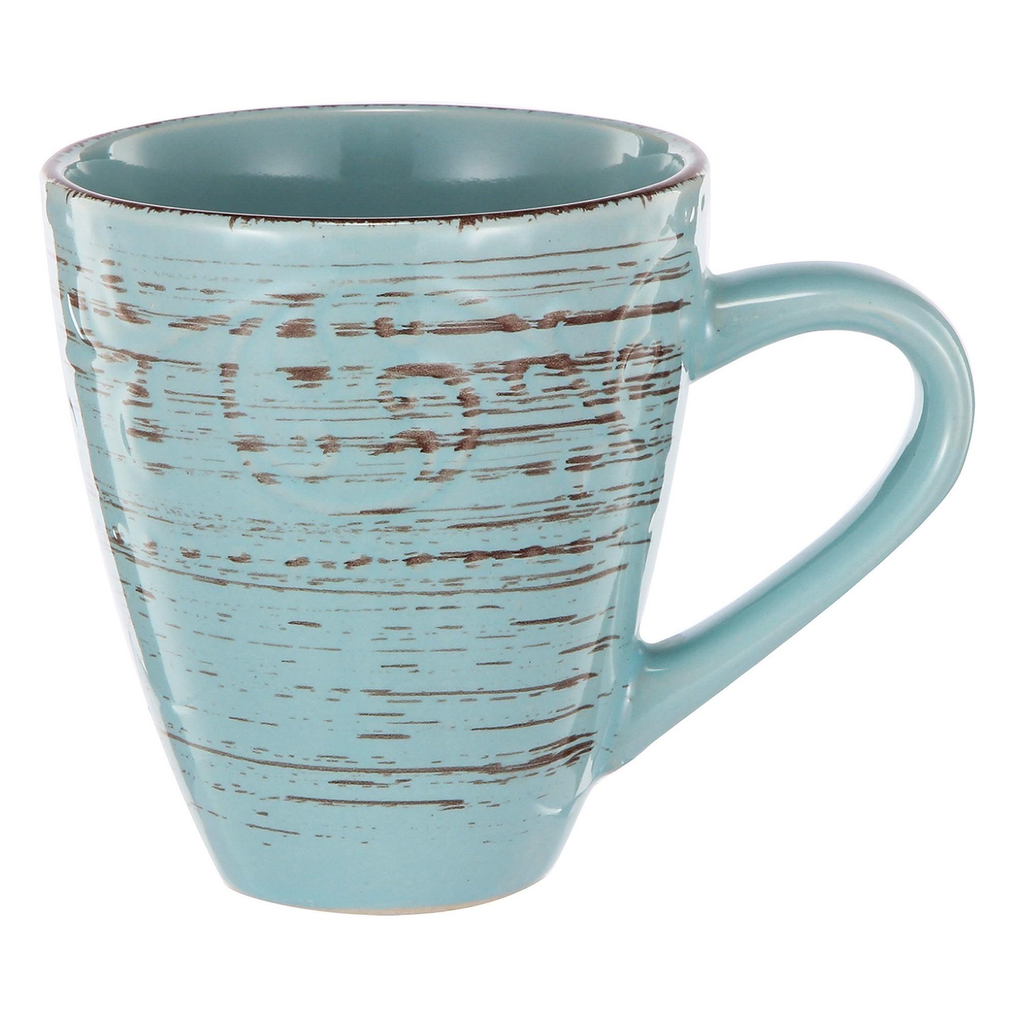 Dane Hill Stoneware Mug, Aqua
