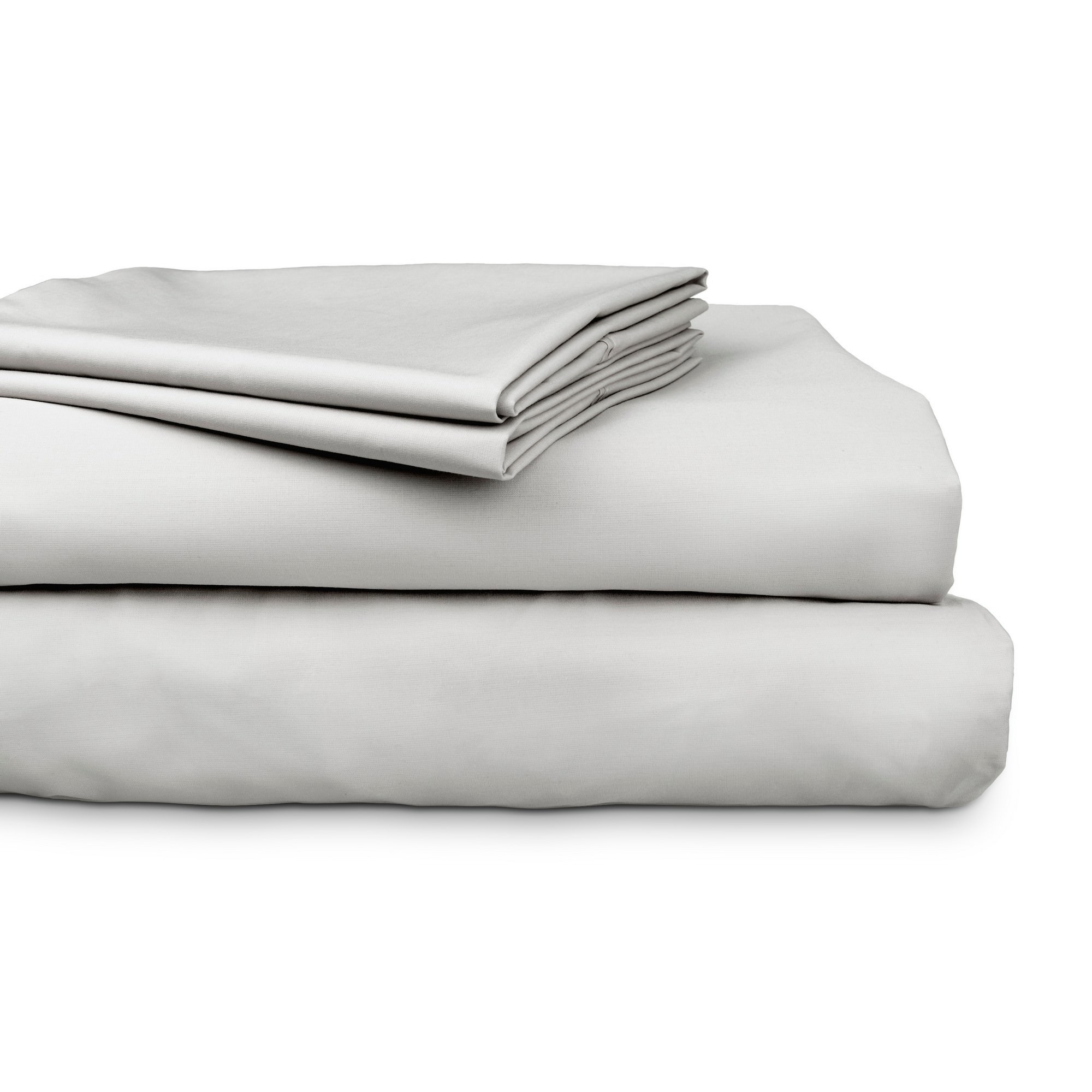 Ajee 4 Piece 300TC Cotton Sheet Set, Queen, Silver