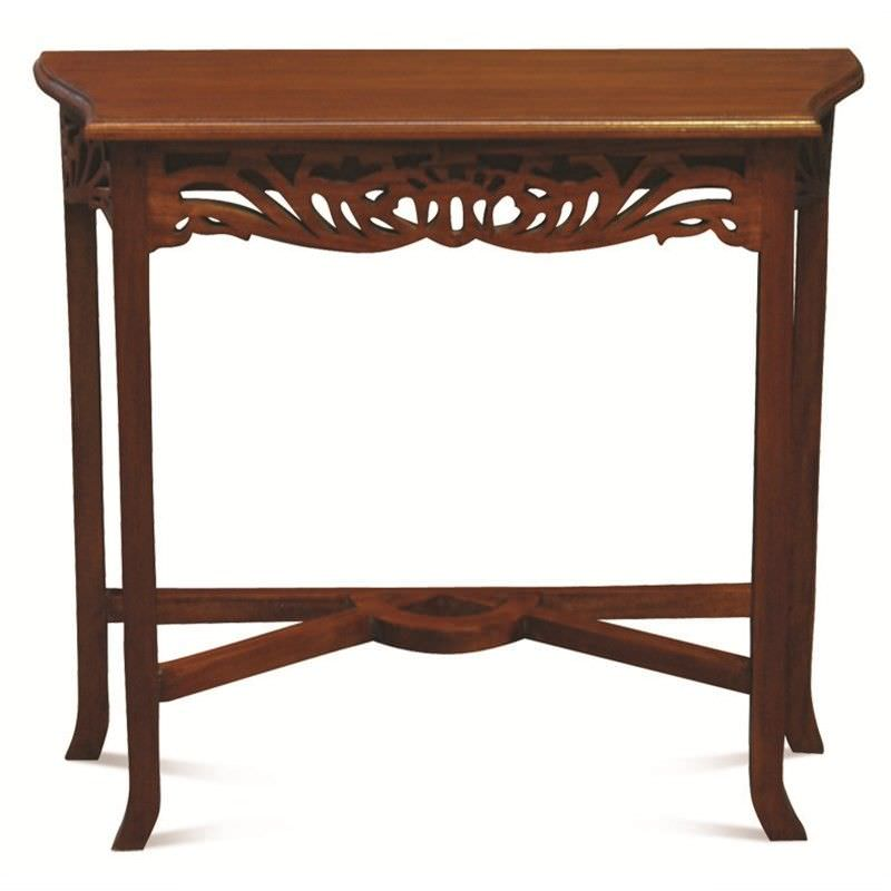 Maciej Solid Mahogany Timber 120cm Sofa Table - Mahogany