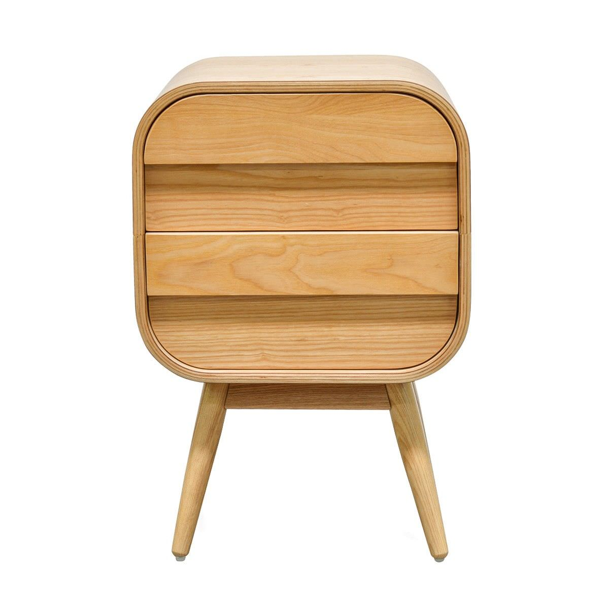 Johnny Wooden 2 Drawer Side Table