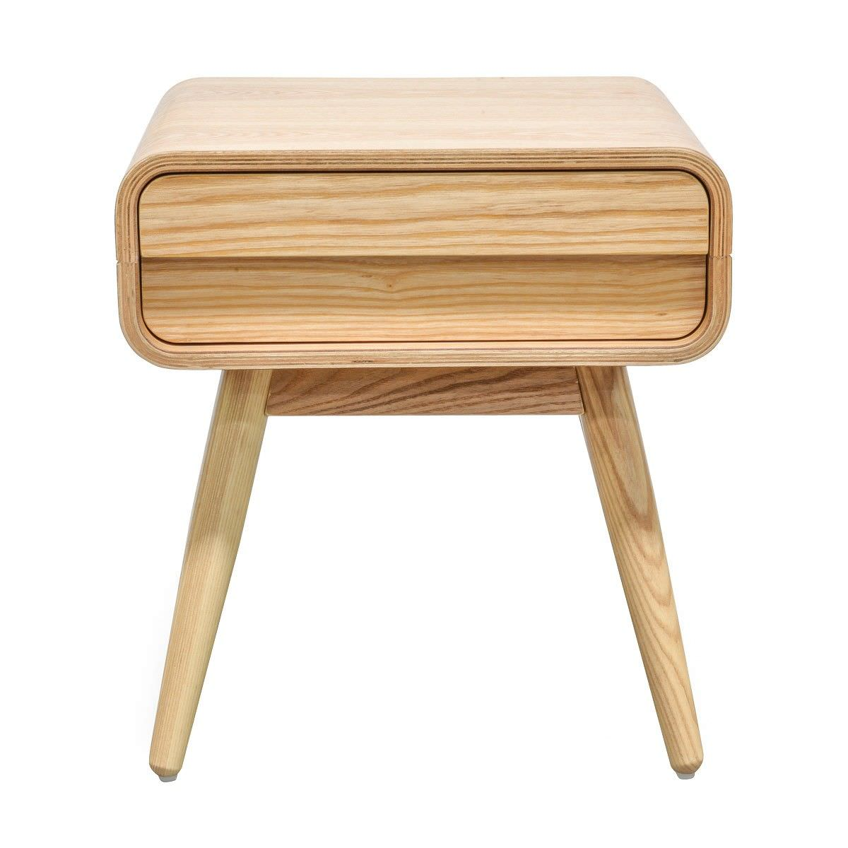 Johnny Wooden Single Drawer Side Table