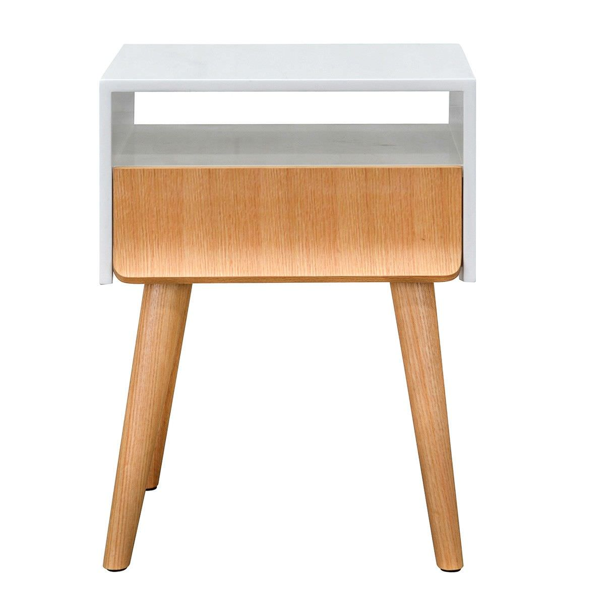 Jessie Side Table, Natural / White