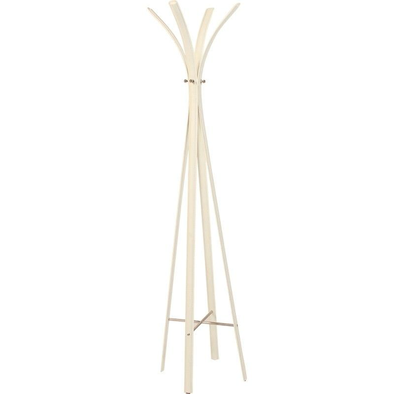 Monica Commercial Grade Leather Upholstered Steel Slender Stand - Ivory