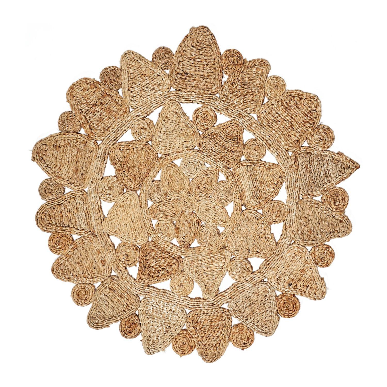 Star Handmade Jute Round Rug, 120cm