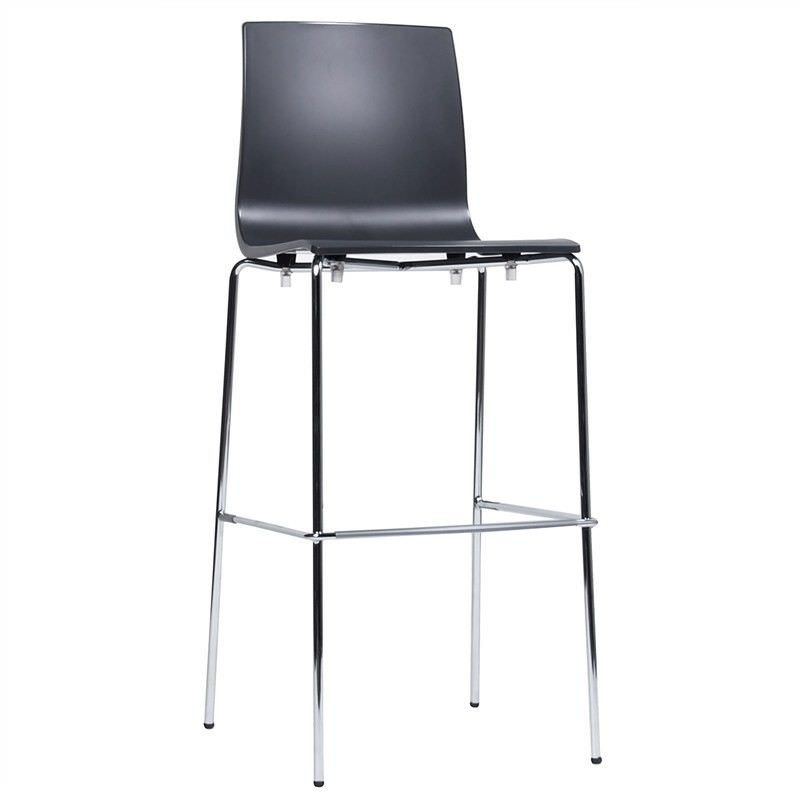 Alice Italian Made Commercial Grade Bar Stool, Anthracite