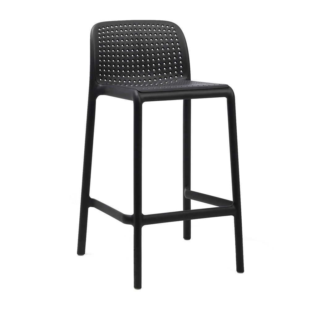 Bora Italian Made Commercial Grade Indoor/Outdoor Counter Stool, Anthracite