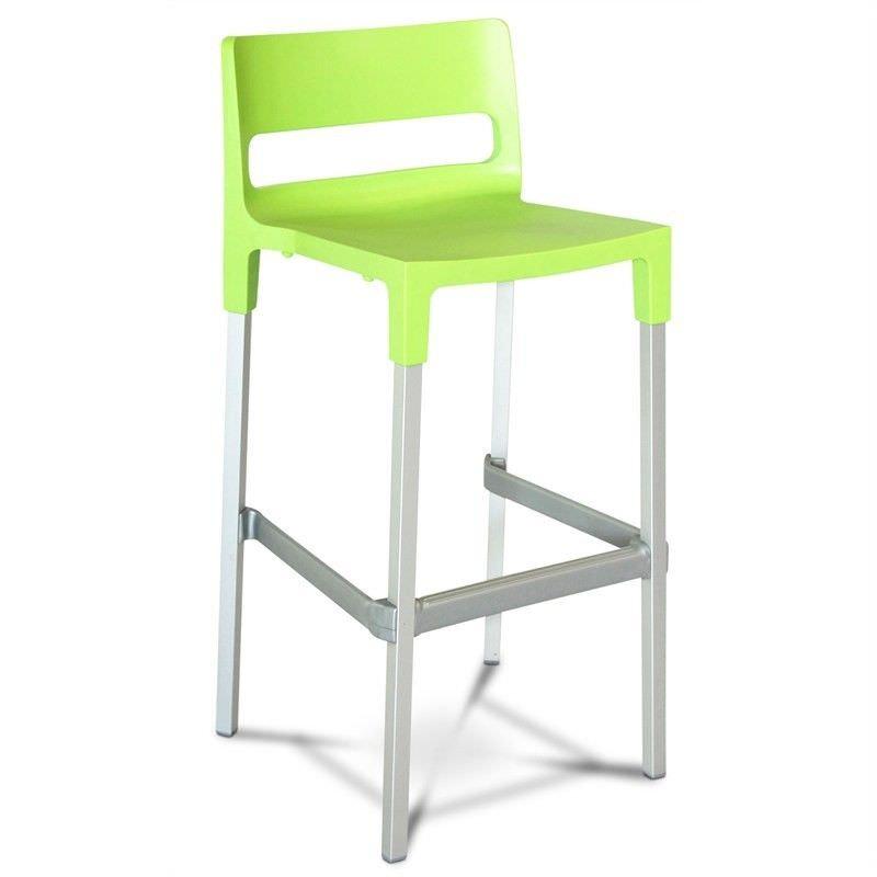 Divo Commercial Grade Indoor/Outdoor Bar Stool, Light Green