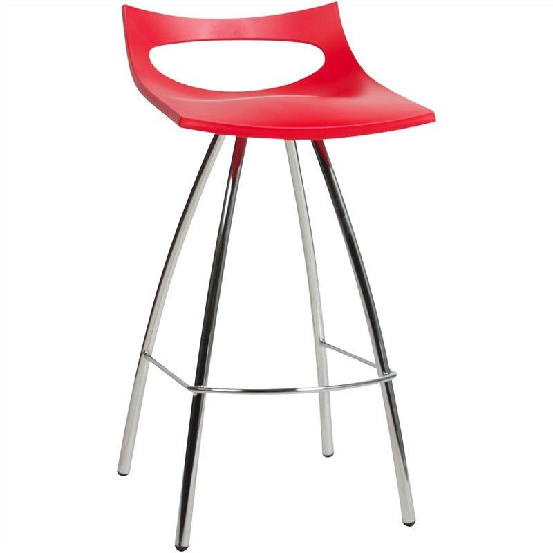 Diablito Italian Made Commercial Grade Counter Stool, Red