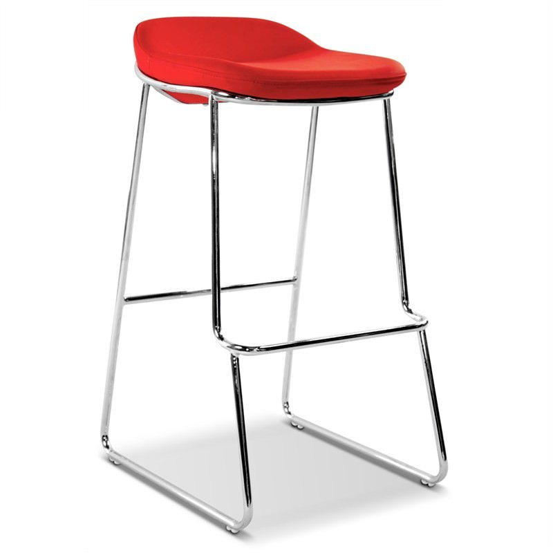 Montreal Stool Commercial Grade  in Red (Set Of 2)