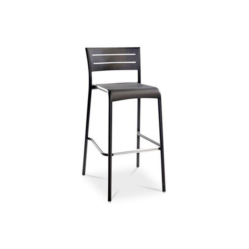 Monaco Commercial Grade Aluminium Indoor/Outdoor Stool, Anthracite