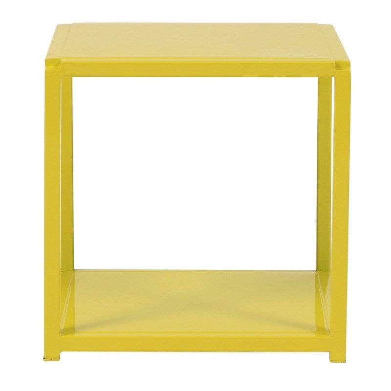 Rubix Commercial Grade Steel Stackable Side Table, Lime
