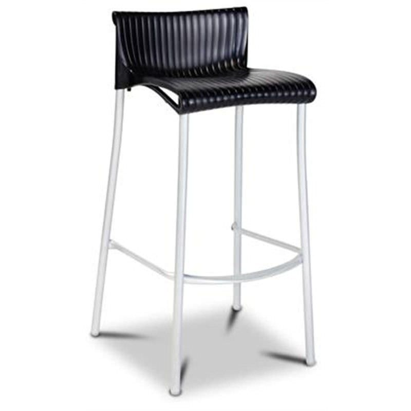 Verona Commercial Grade Indoor/Outdoor Bar Stool, Black