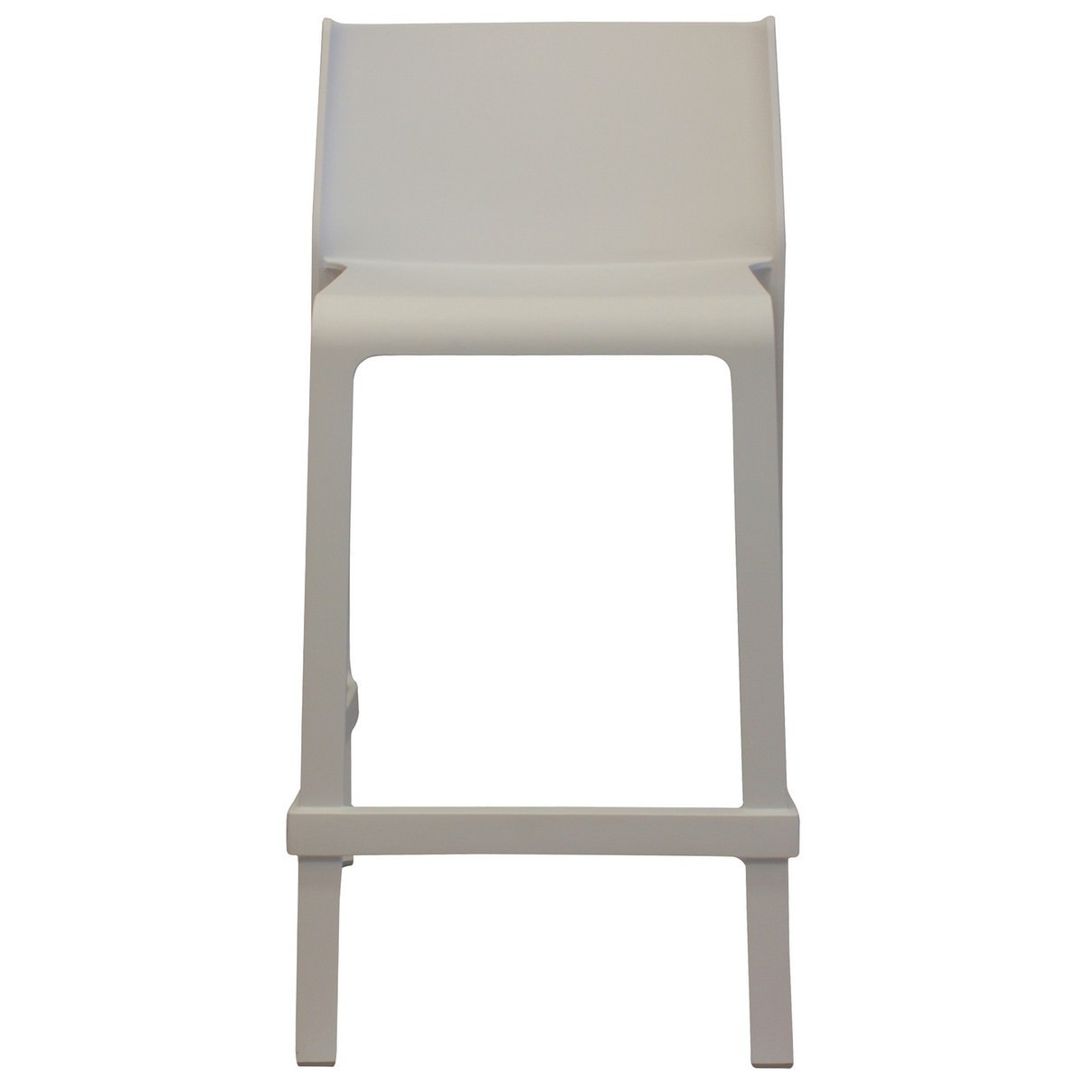 Trill Italian Made Commercial Grade Indoor / Outdoor Counter Stool, White