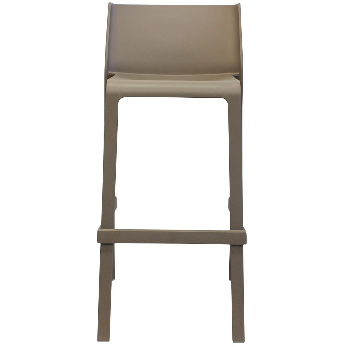 Trill Italian Made Commercial Grade Indoor / Outdoor Bar Stool, Taupe