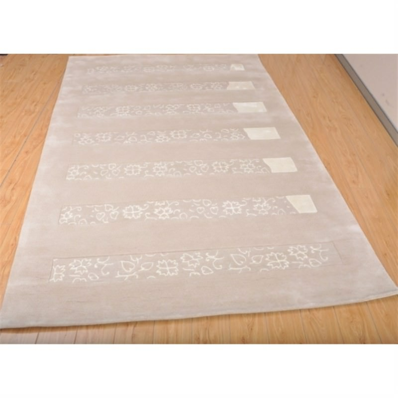Wool Hand-Tufted 3100 Beige Contemporary Rug 160 x 230cm