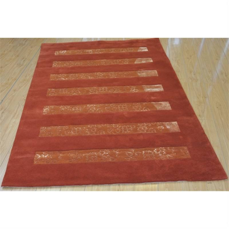 Wool Hand-Tufted Terracotta Contemporary Rug 160 x 230cm