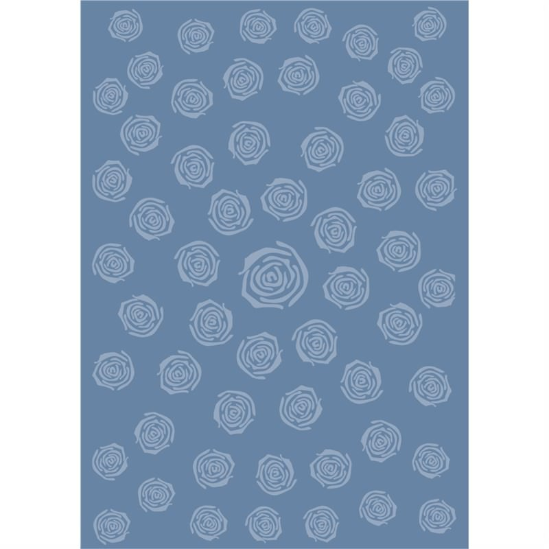 Wool Hand-Tufted Mr80 Blue Contemporary Rug 190 x 280cm