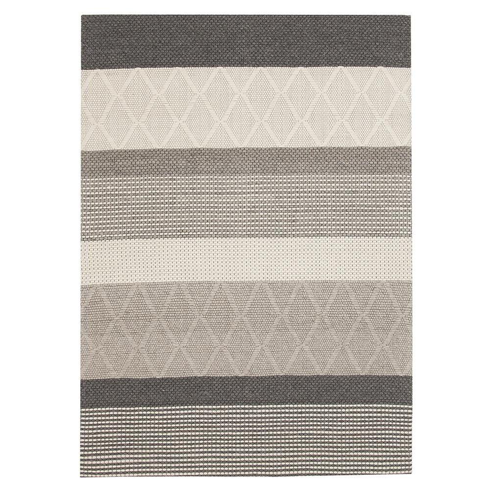 Studio Karlsson Hatch Handwoven Textured Wool Rug, 155x225cm