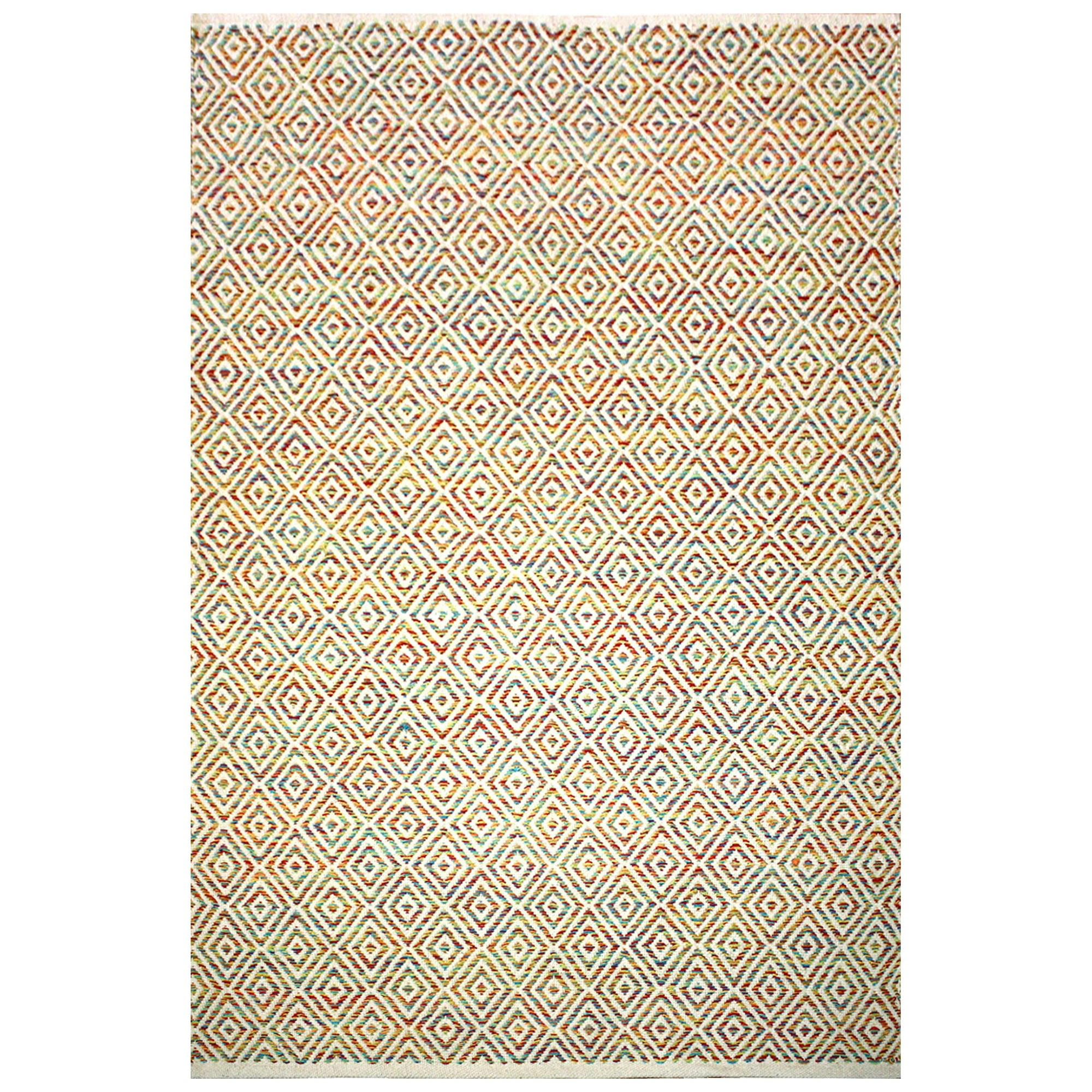 Wilcannia Handwoven Cotton Rug, 165x115cm, Multi