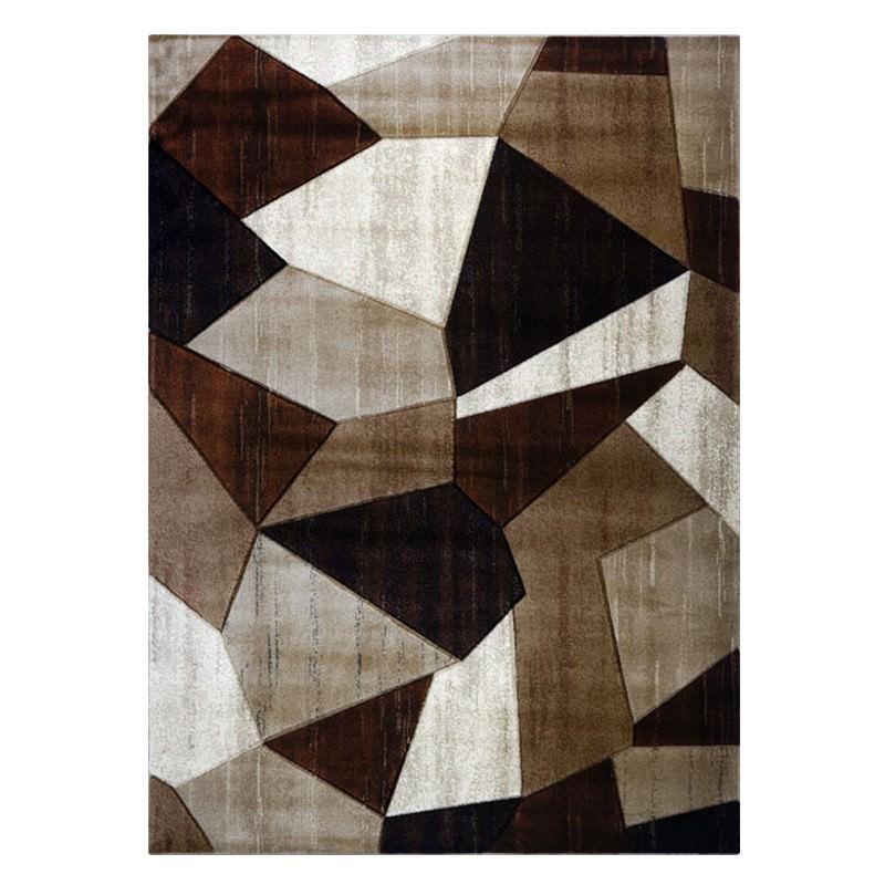 Sunbury Cooper Modern Rug, 80x150cm, Beige / Brown