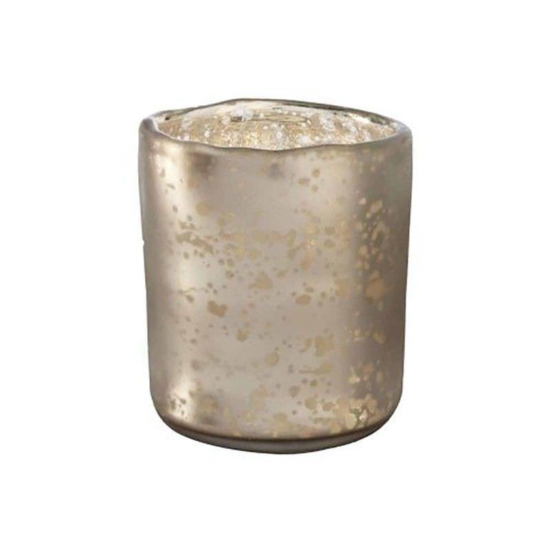 Ash Antique Mercury Glass Votive Candle Holder