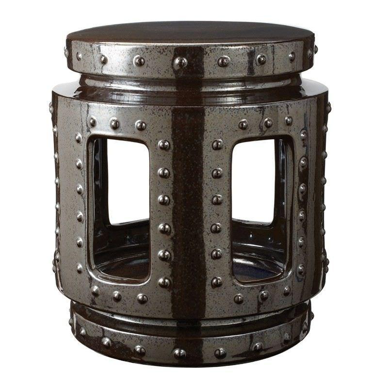 Castiel Ceramic Throne Stool, Black Acid
