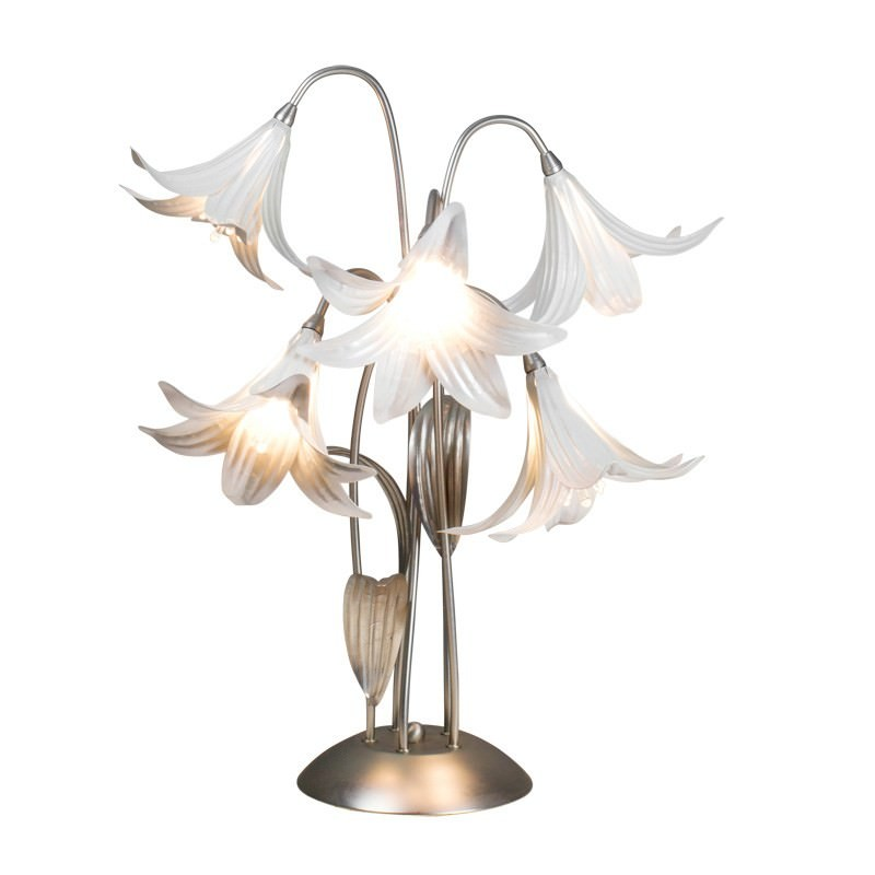 Asiatic Lily 5 Light Table Lamp