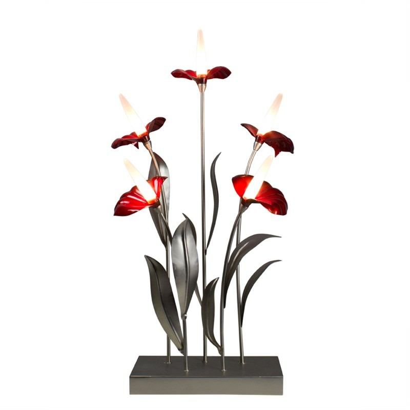 Flamingo Lily 5 Light Table Lamp